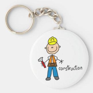 Construction Stick Figure Key Chain