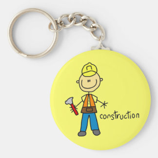 Construction Stick Figure Keychains