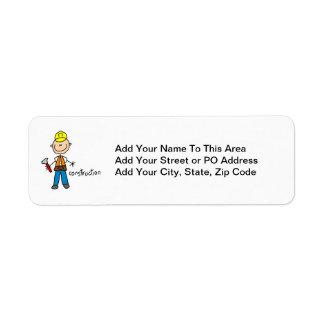 Construction Stick Figure Label