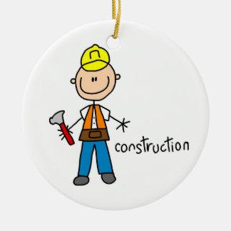 Construction Stick Figure Ornaments