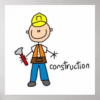 Construction Stick Figure Poster