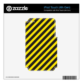 Construction Stripes Diagonal iPod Touch 4G Decals