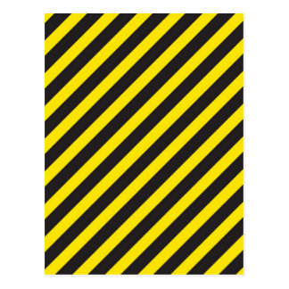 Construction Stripes Diagonal Postcard
