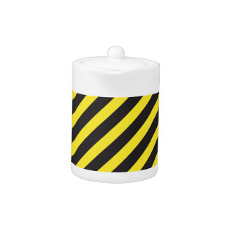 Construction Stripes Diagonal Teapot