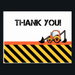 "Construction Thank You Cards<br><div class=""desc"">So, your little construction worker had a fun birthday party! Now it&#39;s time to say thank you to all your guests. Complete your party with these great digger construction thank you cards. Each card has the words &quot;Thank You!&quot; on the front, with a picture of a yellow and orange digger,...</div>"