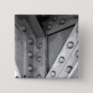 Construction Theme Digital Art. Pinback Button