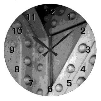 Construction Theme Digital Art. Wall Clock