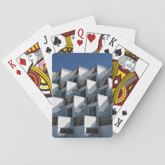 Construction Themed, Apartments Stacked Like Boxes Poker Deck