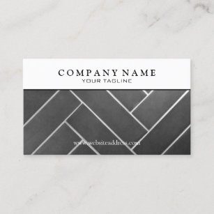 construction tile installer business card - Flooring Business Cards