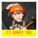 Construction Tool Theme Birthday Invitation