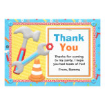 Construction Tools Birthday Thank You Card