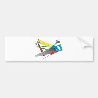 Construction Tools Colors Illustration Bumper Sticker