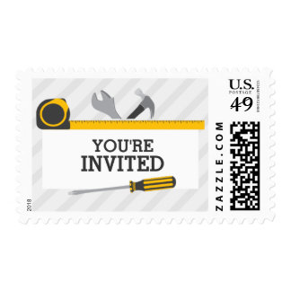 Construction Tools Postage Stamp