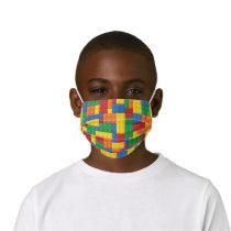 Construction Toy Building Blocks Pattern Kids' Cloth Face Mask