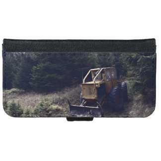Construction tractor wallet phone case for iPhone 6/6s