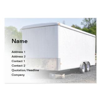 construction trailer business card templates