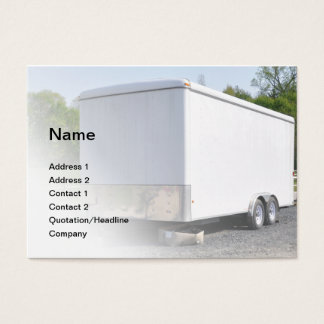 construction trailer business card