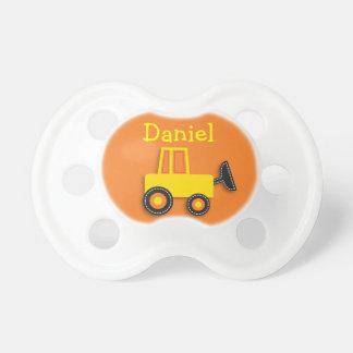 Construction Truck Baby Boy Personalized Pacifier