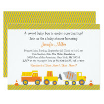 Construction Truck Baby Shower Card