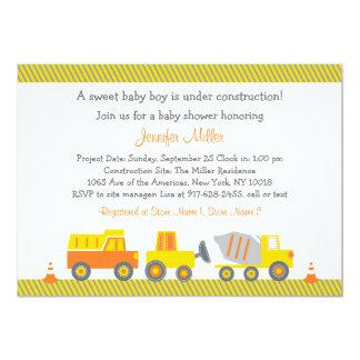 Construction Truck Baby Shower Invitations