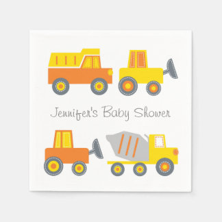 Construction Truck Baby Shower Napkin
