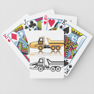 Construction truck bicycle playing cards