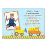 Construction Truck Birthday Invitation