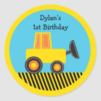 Construction Truck Birthday Stickers