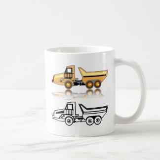 Construction truck coffee mug