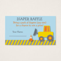 Construction Truck Diaper Raffle Tickets