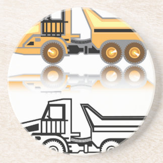 Construction truck drink coaster