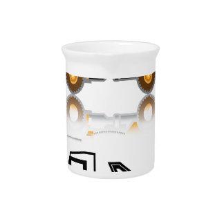 Construction truck drink pitcher