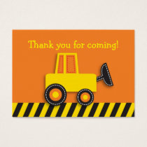 Construction Truck Goodie Bag Tags Gift Tags