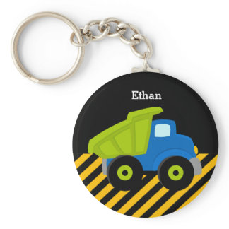 Construction Truck Keychain