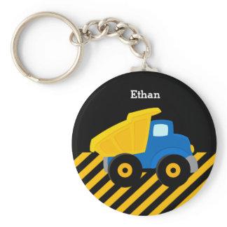 Construction Truck Keychain