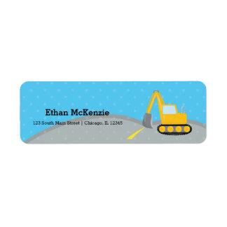 Construction truck label