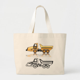 Construction truck large tote bag