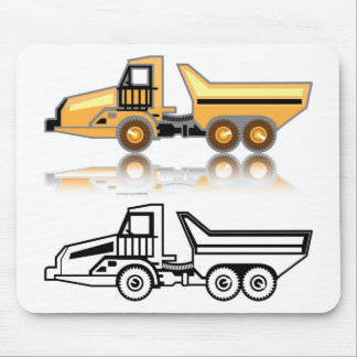 Construction truck mouse pad