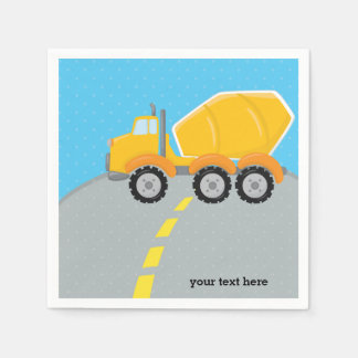 Construction truck paper napkin