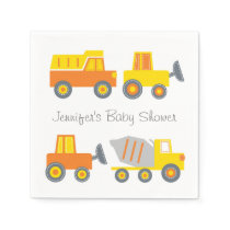 Construction Truck Personalized Napkins