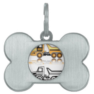 Construction truck pet ID tag
