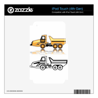Construction truck skin for iPod touch 4G