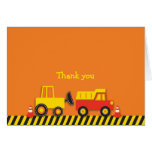 Construction Truck Thank You Note Cards