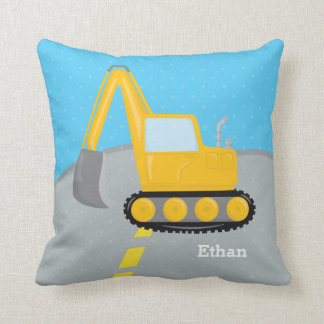 Construction truck throw pillow