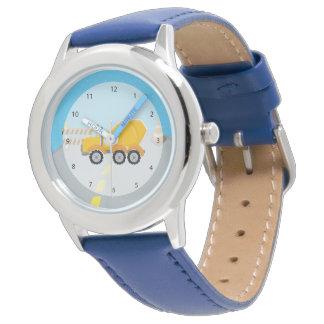 Construction truck wrist watch