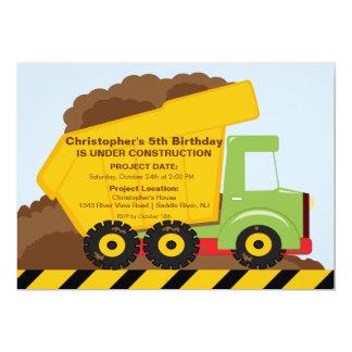 Construction trucks Birthday Party for boys Card