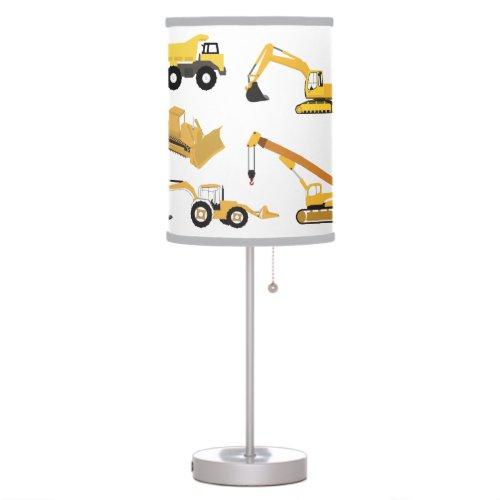 Construction Trucks Table Lamp