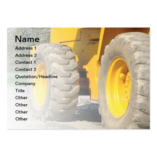 construction vehicle large business cards (Pack of 100)