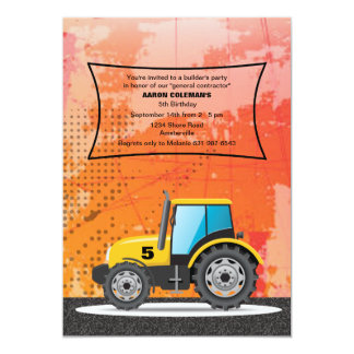 Construction Vehicle Invitation