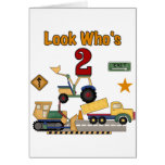 Construction Vehicles 2nd Birthday Card